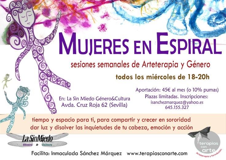Cartel MUJERES EN ESPIRAL en La Sin Miedo 2017.jpg